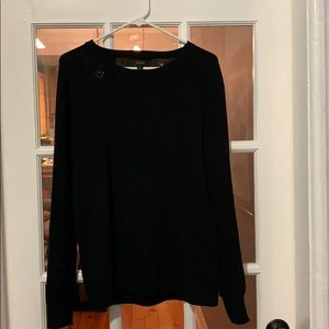 J crew cotton thermal knit crew neck sweater